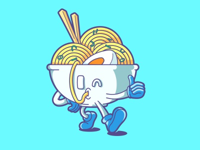 i'm so tasty ;) bowl ramen noodle vector funny character cute illustration