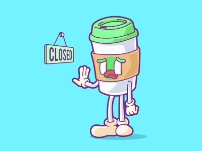 i am latte ... comic cartoon funny character vector cute illustration cup closed drinks coffee latte
