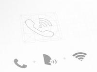 Shatel Talk iOS Icon Design