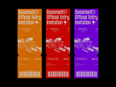 BASEMENT PT.3 - DAILY POSTER DESIGN #22 ticket design tickets typeface graphic design printing print design print graphic design