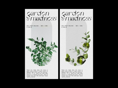 GARDEN OF MADNESS - DAILY POSTER DESIGN #25 minimalist flyer design flyer typeface graphic design printing print design print graphic design