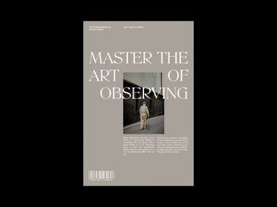 OBSERVING - DAILY POSTER DESIGN #27 magazine cover minimalist magazine typeface graphic design printing print design print graphic design