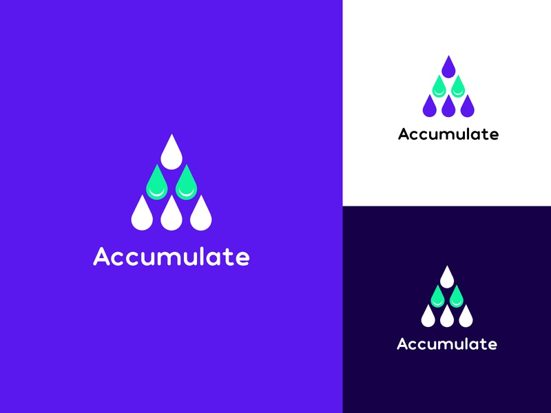 Accumulate Logo graphic graphic design webdesign collectibles collection icon vector branding logo art ui flat illustration design minimal