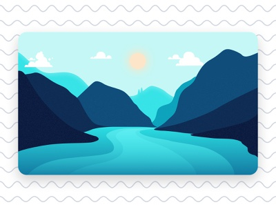 Kattagat graphics clouds weather sun mountain hill nature icon vector figma photoshop ux design art ui illustration flat design minimal