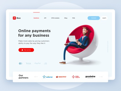 Portmone - online payments service uiux ux service payment business minimalism interface website popular landing dribbble desktop design concept clean 2020 ui