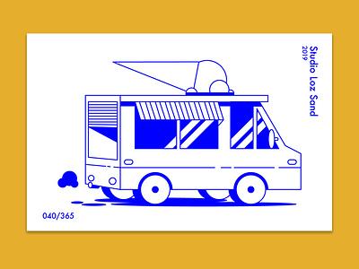 Ice Cream Car minimal car ice cream ai adobe illustrator vector illustration vector digital art design illustration