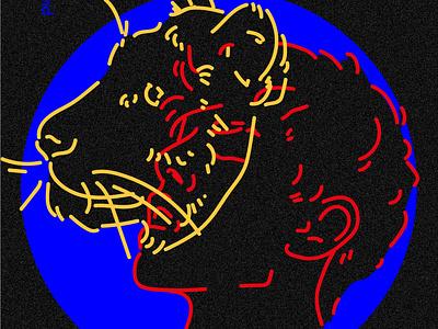 Masks 2 portrait tiger adobe illustrator vector illustration vector character design digital art design illustration mask