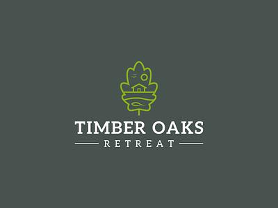timber oaks retreat logo branding vector design logo symbol modern line art minimal nature oak