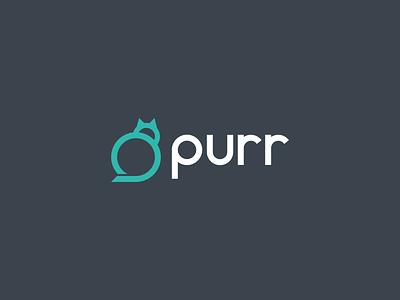 purr logo vector designs branding logo symbol modern line art minimal animal pet animal cat