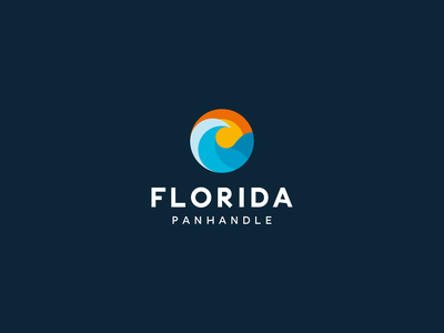 Florida Panhandle logo brand brand design clean clear illustration icon branding vector design symbol modern logo water wave sea