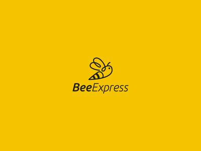 Bee Express brand clean clear icon designs line art minimal animal branding vector design symbol modern logo