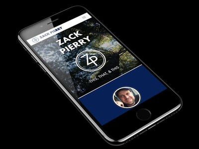 Personal Website iPhone device mockup