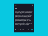 Dailyui 065 Notes widget