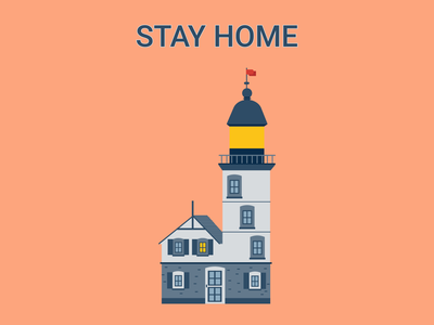 Stay home web figma app icon typography branding vector illustration design hero