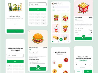Grocery food app illustrator figma vector icon ux mobile app illustration ui ui designers figmadesign ui design design hero