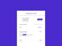Dailyui 017 - Email receipt hint