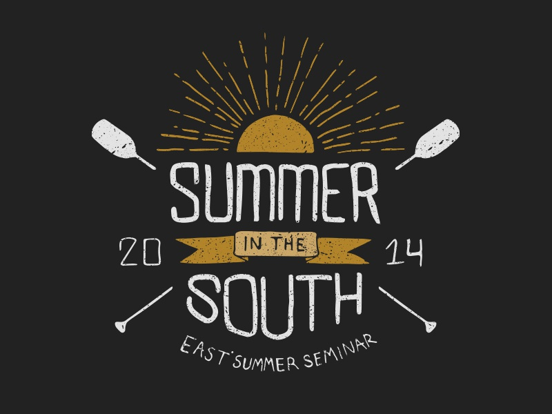 Summer In The South hand lettering lettering texture branding vintage summer sun camp east initiative