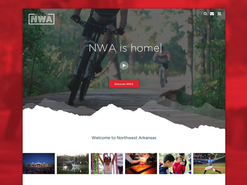 Finding Northwest Arkansas website web ui landing homepage wordpress acf relocation nwa