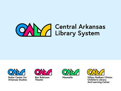 Central Arkansas Library System Logo Concept few colorful logo hillary clinton branding library system library arkansas central arkansas cals