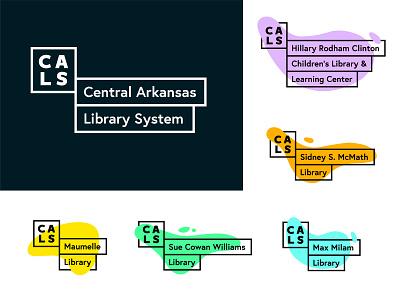 Central Arkansas Library System Logo Concept library system library colorful w logo sub-brand waves branding little rock few logo arkansas design