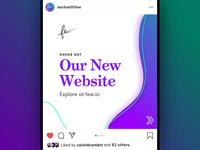 Few - Instagram Website Promo