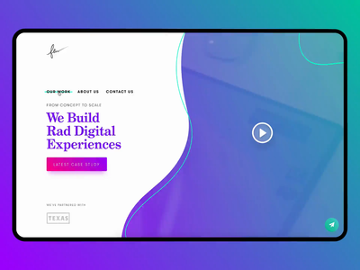Few Website Redesign careers made by few rad smooth arkansas little rock video banner gradient green purple ui transition landing animation portfolio company agency redesign website