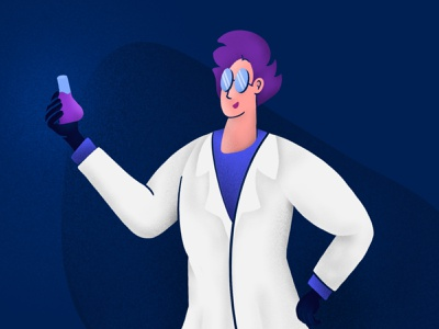 Scientist Illustration digital illustration character hero researcher research lab science procreate
