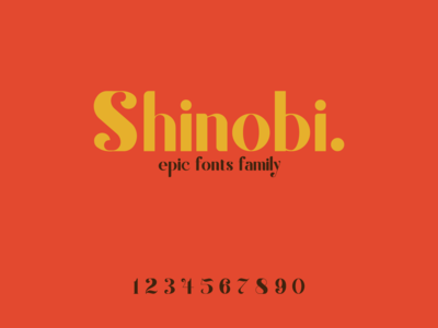 shinoby with miranda font