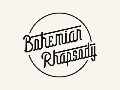 bohemian rhapsody restaurant redesign retro book box boy bohemian rhapsody logo illustration font family typography fonts font design font awesome font design bold queen rhapsody bohemian