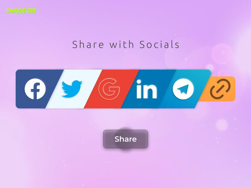 #dailyui009  Social Share web app design ui icon vector figma daily socialmedia social share challenge dailyuichallenge dailyui