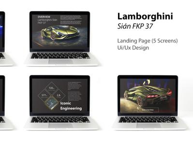 Lamborghini - Ui/Ux Design (Landing Page)