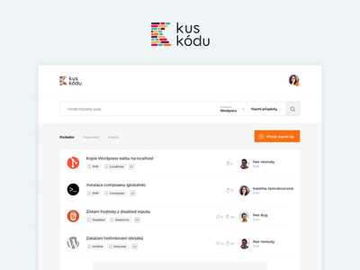 Kuskodu - Home webdesign website design code web design ui flat