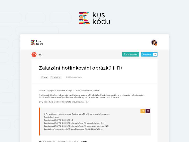 Kuskodu - Detail flat ui web design code design website webdesign detail