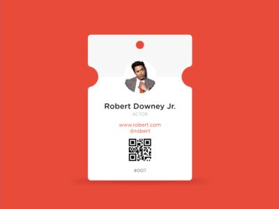 Affinity designer - tag speaker conference red tag