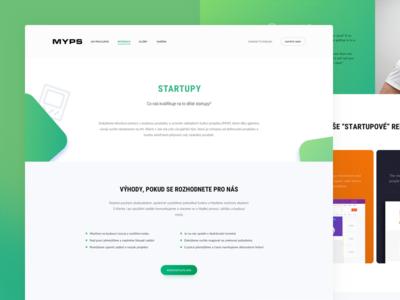 Myps.cz Services webdesign web redesign portfolio homepage gradient development design agency