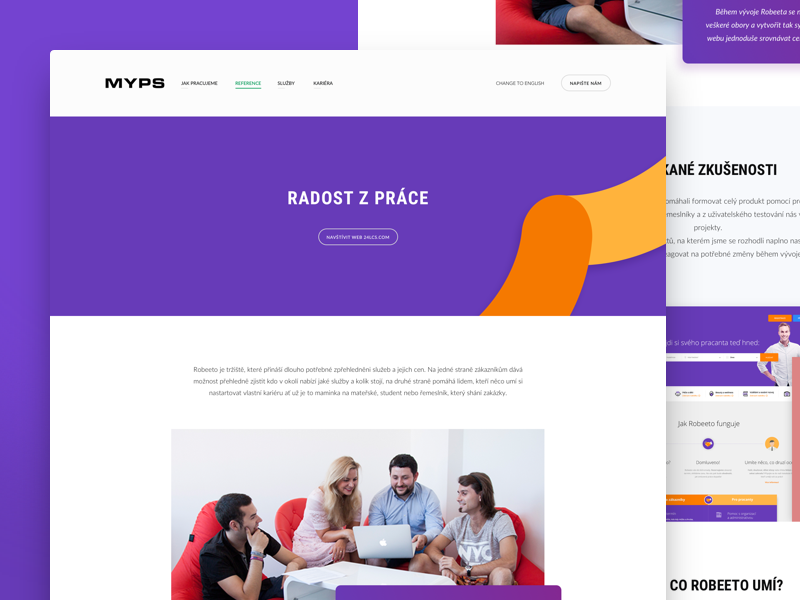 Myps - Project Detail agency design development gradient portfolio redesign web webdesign reference
