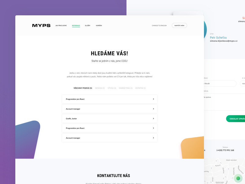 Myps - Career career webdesign web redesign portfolio gradient development design agency