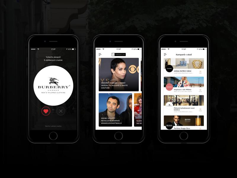 iOS app - Pařížská Live luxury retail ux ui brand news product beacons application app