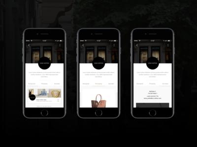 iOS app - Pařížská Live luxury app application beacons product news brand ui ux retail