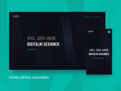 Personal Portfolio - jakubko.cz ux ui minimal layout clean design website portfolio personal