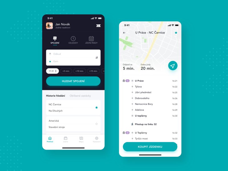 Concept - Public Transport app product mobile ux ui transport public transport navigation map ios design concept app