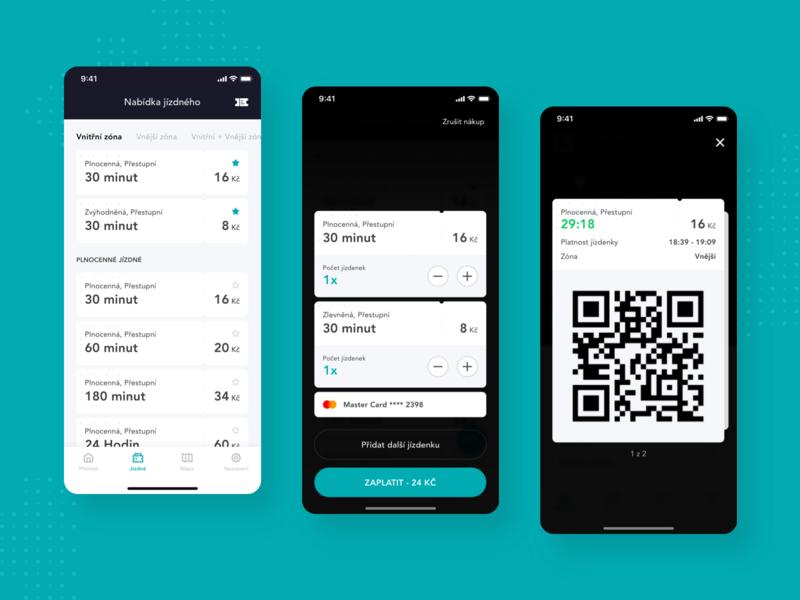 Concept - Public Transport app, Tickets product mobile ux ui transport public transport navigation map ios design concept app