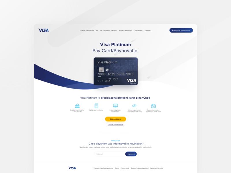 Concept  - Visa Landing Page visa creditcard web concept homepage ux ui design webdesign