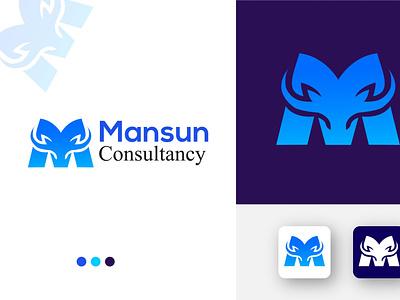 LETTER M + Hunting logo LOGO vector design art logo graphic design branding