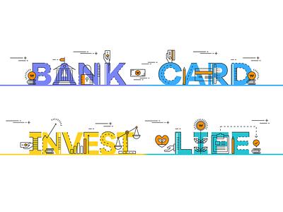 Shinhan All Plus app : illustrations for finance icon illustration design ux ui