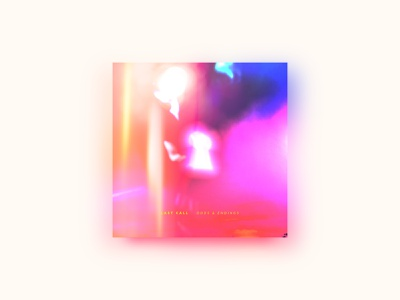Odds & Endings neon glow light odd keyhole album art punk emo painting illustration gradient