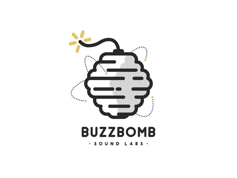 Buzzbomb buzzbomb logo beehive bees bomb recording studio california punk rock mark single weight