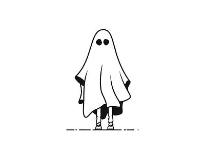 Sheet Ghost illustration logo mark ghost sheet ghost haunted