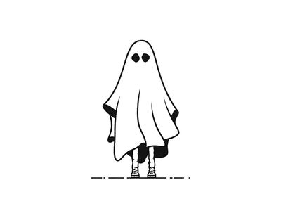 Sheet Ghost illustration logo mark ghost sheet ghost haunted