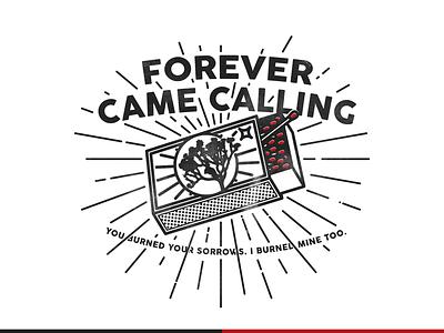 Matchbox de FCC merchandise band illustration matchbox matches forever came calling pop punk punk rock joshua tree